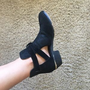 Steve Madden Suede Cut Out Ankle Booties